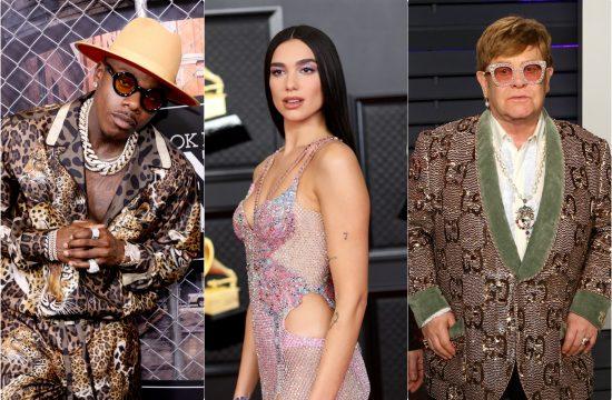 DaBaby Dua Lipa i Elton John