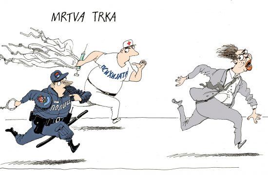 Karikatura Mrtva trka