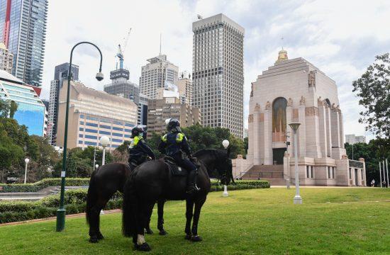 Sidnej policija na ulicama Australija