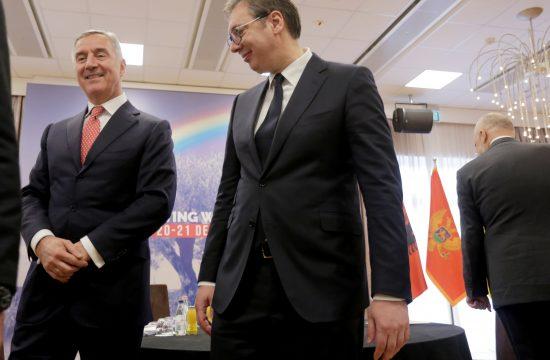 Milo Djukanovic i Aleksandar Vucic