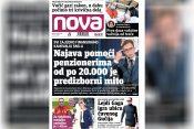 Nova, naslovna za utorak, 03. avgust, broj 30, dnevne novine Nova, dnevni list Nova