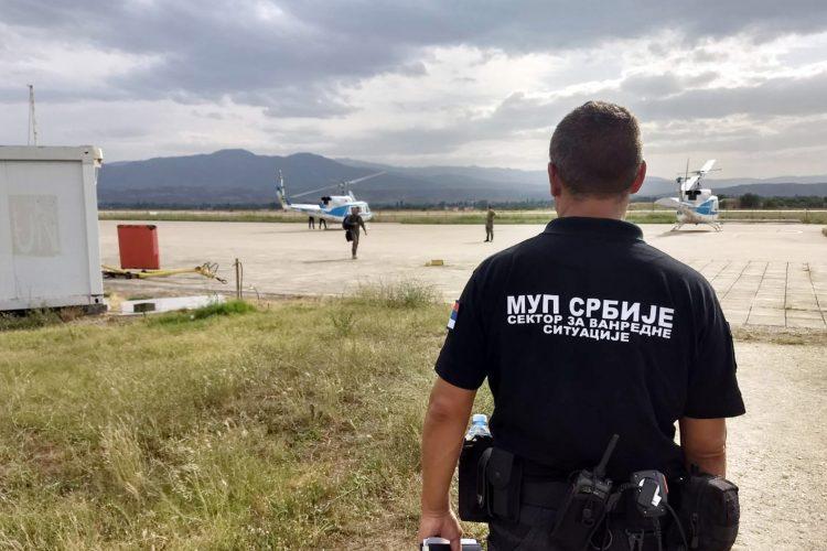MUP Srbije, sektor za vanredne situacije, gašenje požara, helikopter, pomoć, Severna Makedonija