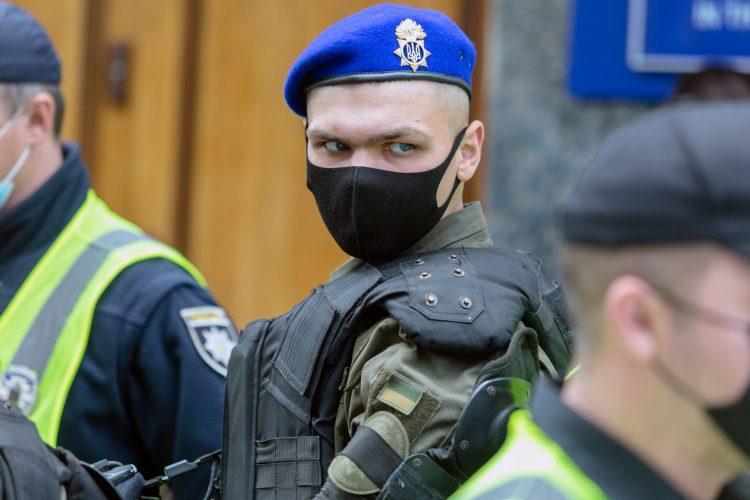 Ukrajina, Kijev, policija, ilustracija