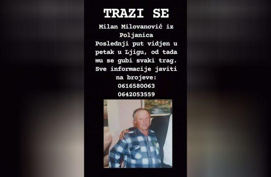 Milan Milovanović, nestao, Ljig