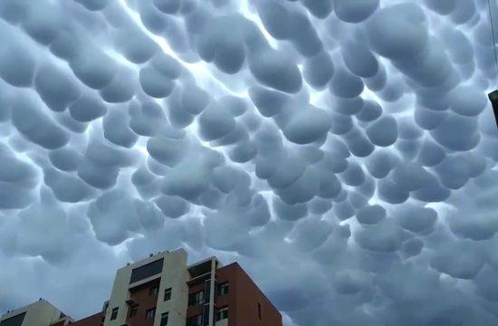 Neobični mamutski oblaci u Kini