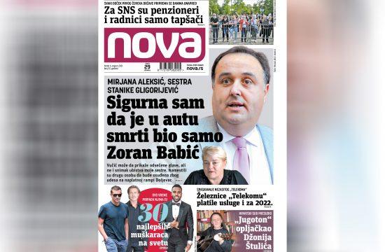 Nova, naslovna za petak, 06. avgust, broj 33, dnevne novine Nova, dnevni list Nova