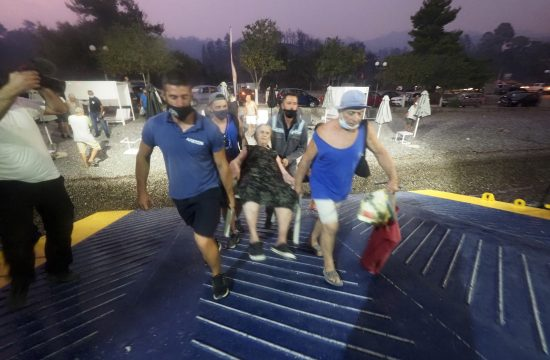 Pozar Grcka evakuacija turista