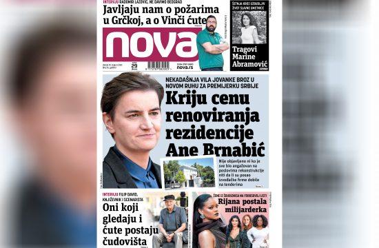 Nova, naslovna za utorak, 10. avgust, broj 36, dnevne novine Nova, dnevni list Nova