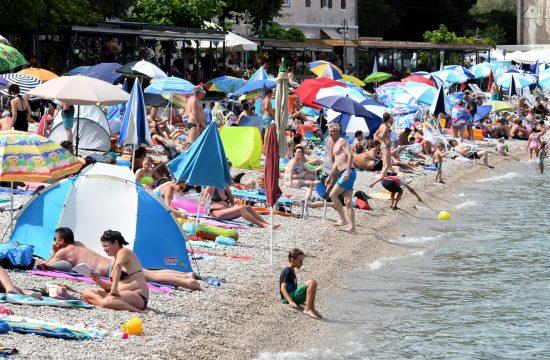 plaža hrvatska paradajz turizam