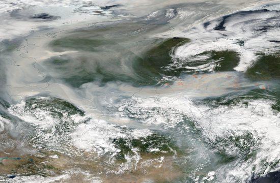 Sibirski dim iznad Severnog pola