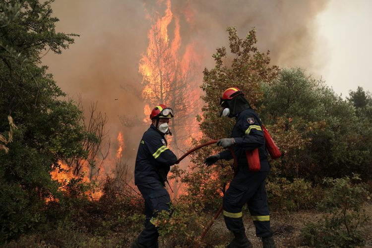 Evija, Grčka, požar