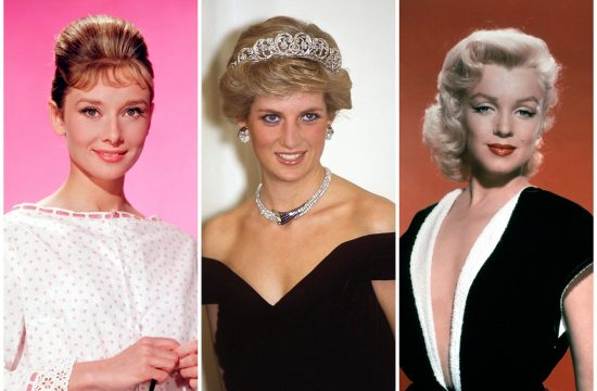 Odri Hepbern, Audrey Hepburn, Lejdi Dajana, Lady Diana, i Merlin Monro, Marilyn Monroe