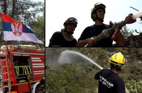 srpski vatrogasci i piloti na Eviji