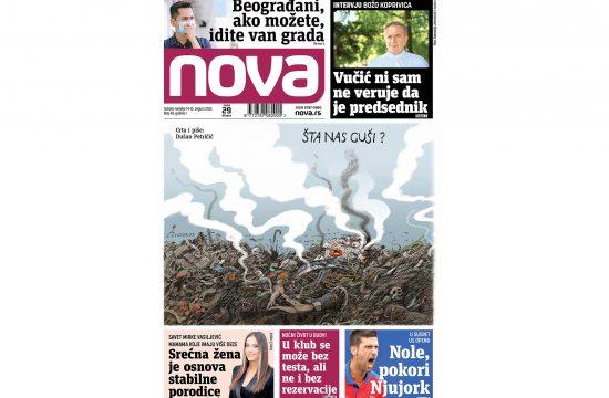 Naslovna strana dnevnih novina Nova za 14-15 avgust 2021