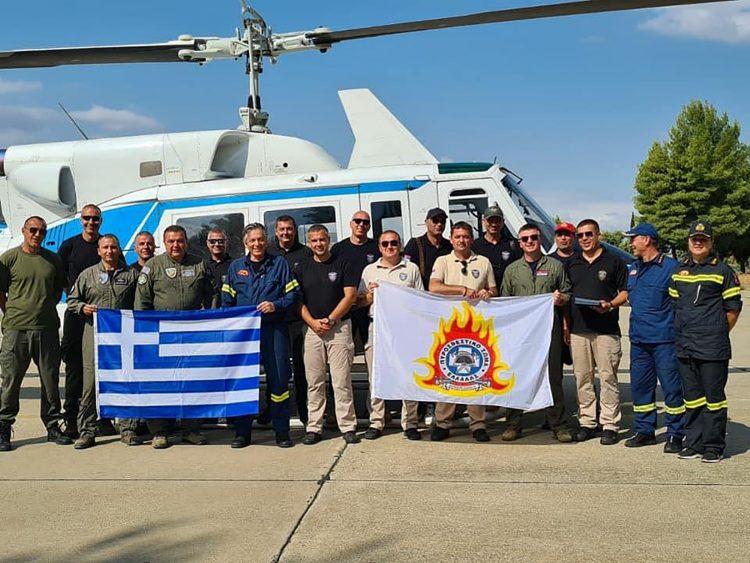 MUP Srbije, helikopterska jedinica, pomoć Grcima u gašenju požara