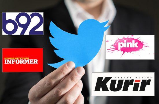 Twitter, B92, Informer, Pink, Kurir