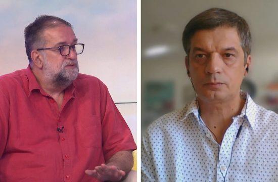 Vukasin Obradovic i Zeljko Bodrozic gosti emisije Novi dan na televiziji N1