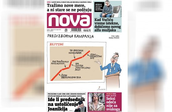Nova, naslovna za subotu i nedelju, subota, nedelje, vikend izdanje, 21. i 22. avgust, broj 46, dnevne novine Nova, dnevni list Nova