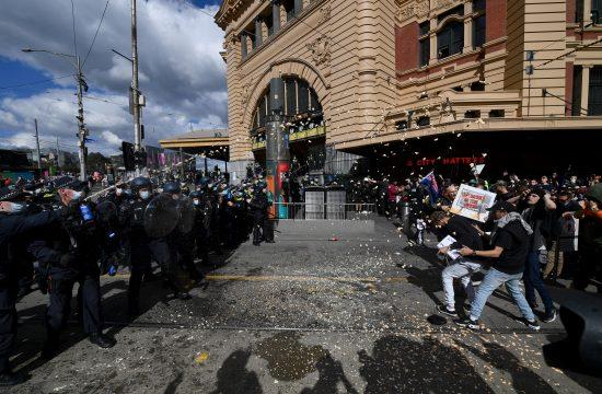Melburn protest Australija