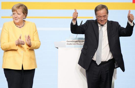 Angela Merkel i Armin Laset