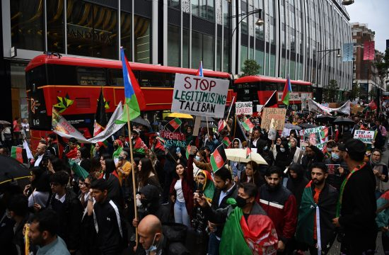 London, Engleska, protest, Avganistan, Talibani