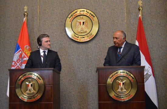 Nikola Selaković i Sameh Hasan Šukri, Egipat, poseta