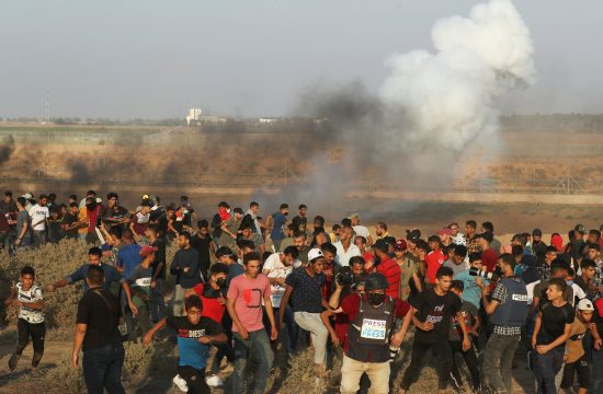 Izrael, Palestina, Gaza, granica, protest