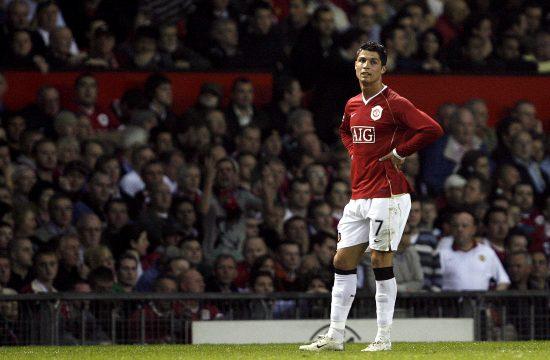 Kristijano Ronaldo u periodu dok je nosio dres Mančester junajteda