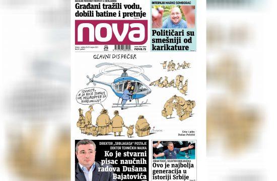 Nova, naslovna za suboti i nedelju 27. i 28. avgust, vikend broj, vikend izdanje, broj 52, dnevne novine Nova, dnevni list Nova