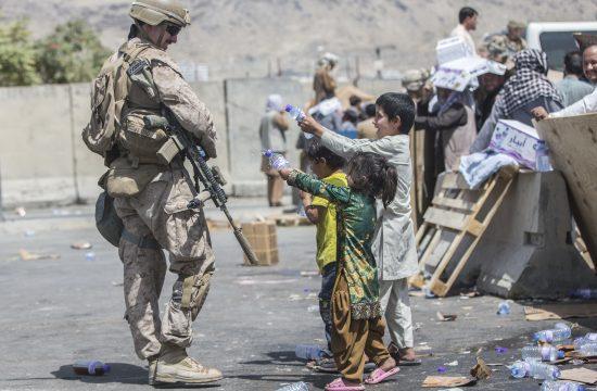 Kabul deca na aerodromu