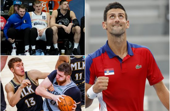 Novak Đoković i košarkaši