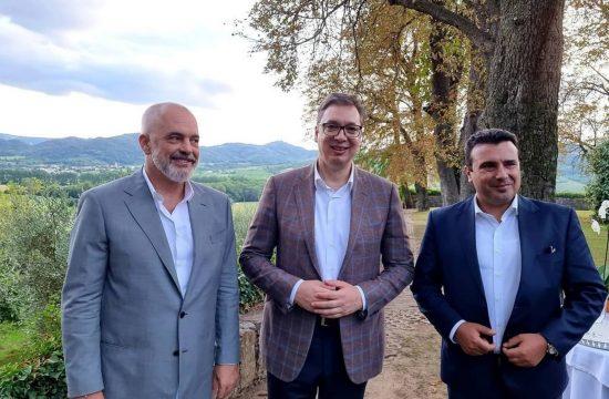 Edi Rama, Aleksandar Vučić i Zoran Zaev