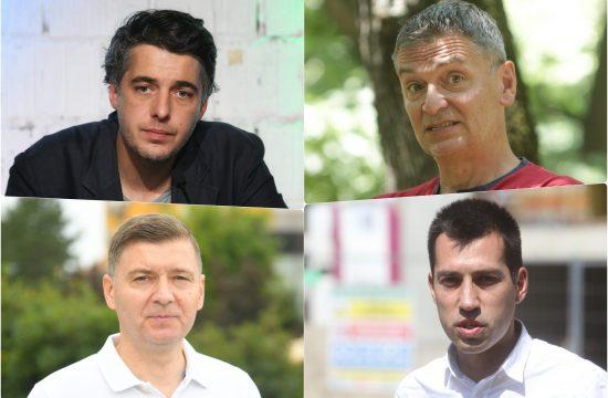 Nebojsa Zelenovic, Aleksandar Jovanovic Cuta, Dobrica Veselinovic i Djordje Miketic