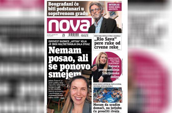 Nova, naslovna za četvrtak 02. septembar, broj 56, dnevne novine Nova, dnevni list Nova