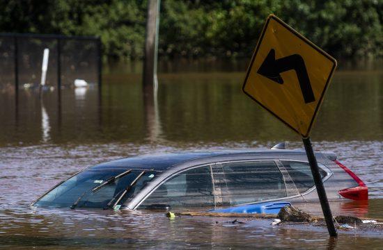 Nju Dzerzi poplave uragan Ida