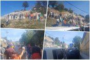 Crna Gora, Cetinje, 04.09.2021. blokada puta, policija, dan pred ustoličenje mitropolita Joanikija