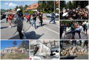Crna Gora, Cetinje, policija, demonstracije, dan pred ustoličenje mitropolita Joanikija