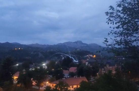 Cetinje suzavac Crna Gora