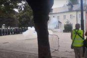 Ispaljen suzavac na Cetinju FOTO: Vijesti