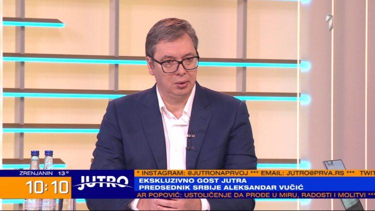 Aleksandar Vučić na TV Prva