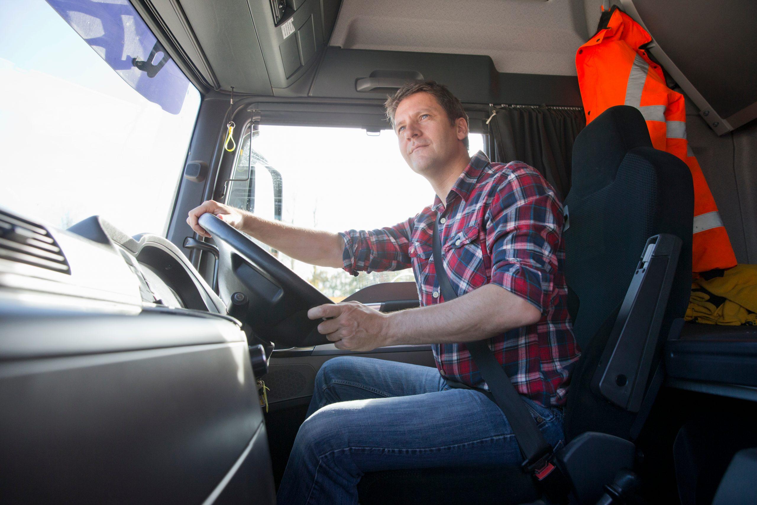 Vozač kamiona, kamion, vozač