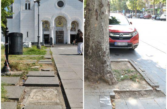 Beograd, razvaljene ulice, raskopan grad, raspad