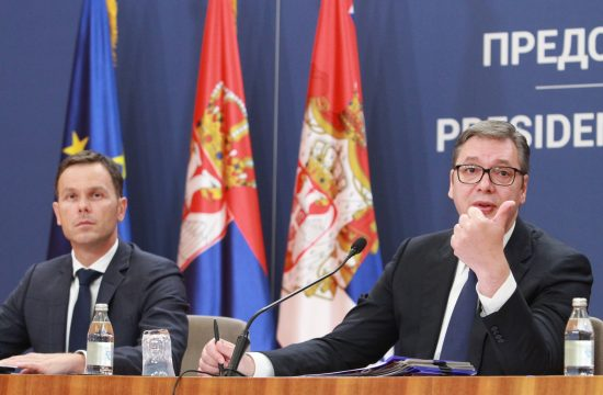 Aleksandar Vucic i Sinisa Mali