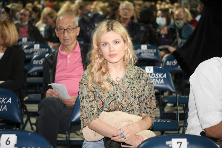 Nevena Bozovic na koncertu Plasida Dominga na Tasu