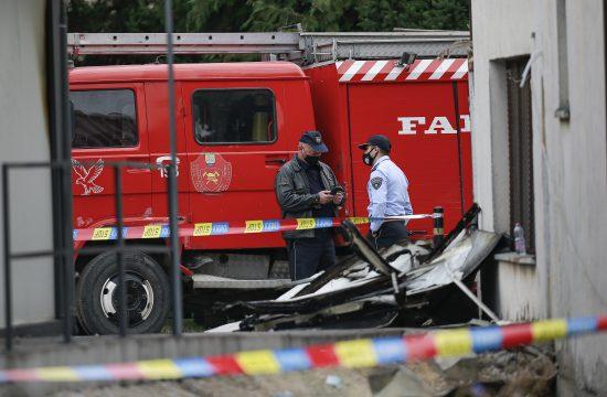 Makedonija, Tetovo, Kovid bolnica, požar, nesreća, izgorela kovid bolnica