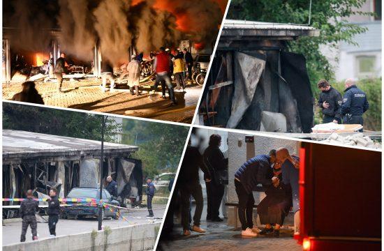Tetovo, požar, kovid bolnica, izgorela kovd bolnica u Tetovu, Makedonija