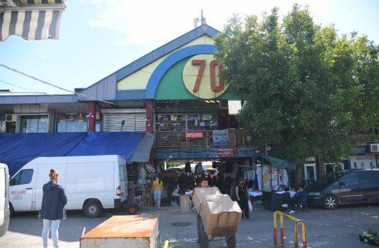 Beograd Novi Beogra, Blok 70, kineski tržni centar posle požara