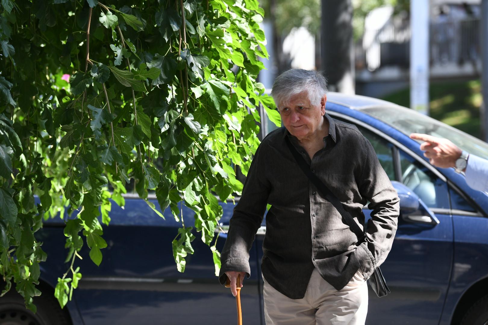 Dejan Mijač Komemoracija glumcu Milanu Lanetu Gutoviću u Jugoslovenskom dramskom pozorištu, JDP, Milan Lane Gutović