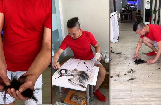 Frizer slikar