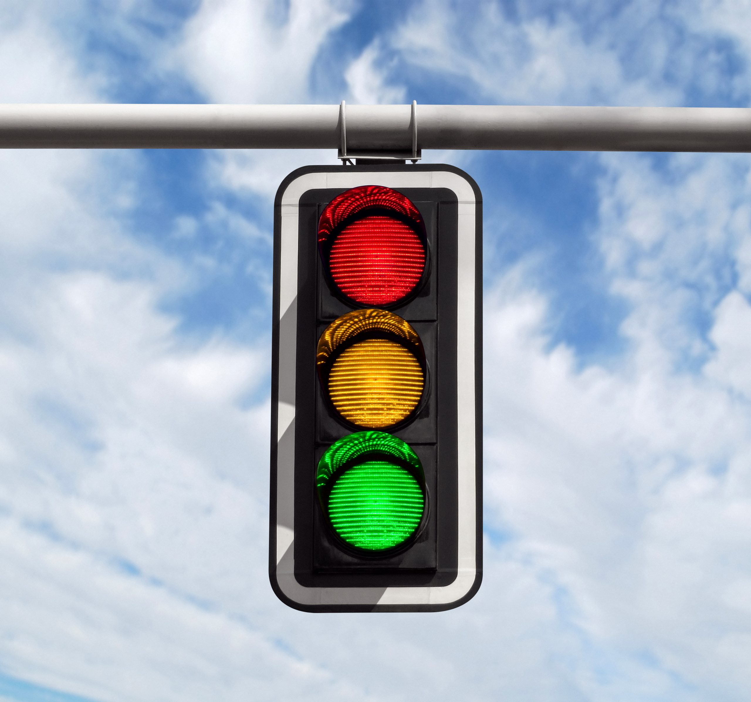 Semafor, zeleno svetlo